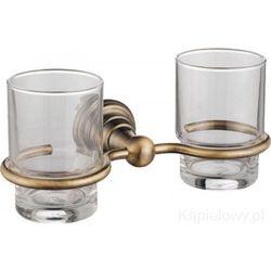 DIAMOND Kubek szklany podwójny, brąz 1318-05