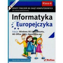 Informatyka Europejczyka. Zeszyt ćwiczeń do zajęć komputerowych dla szkoły podstawowej, kl, książka z I