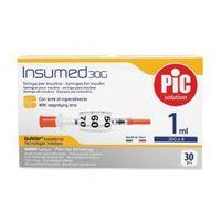 Strzykawki insulinowe INSUMED 1ml G30x8mm (30szt.)