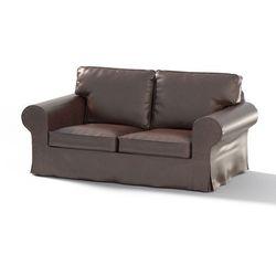 Dekoria Pokrowiec na sofę Ektorp 2-osobową, nierozkładaną, brąz (eko-skóra), Sofa Ektorp 2-osobowa, Eco-leather