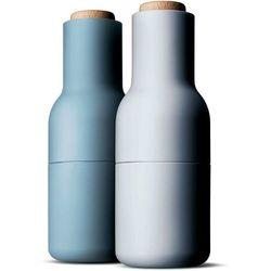 Młynki do pieprzu lub soli butelki Menu błękitne