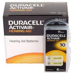 60 x baterie do aparatów słuchowych Duracell ActivAir 10 MF - sprawdź w wybranym sklepie