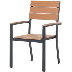 Beliani Krzesło ogrodowe brązowe como (7081454573732)
