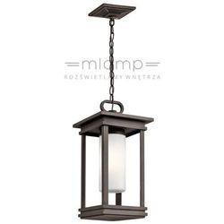 Kichler Zewnętrzna lampa wisząca kl/south hope8/s elstead  klasyczna oprawa do ogrodu zwis latarenka ip44 brąz przecierany
