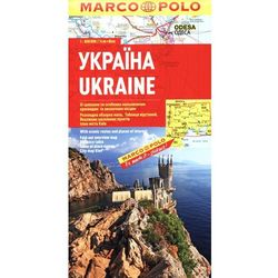 Ukraine. Mapa samochodowa Marco Polo w skali 1:800 000, książka z kategorii Mapy i atlasy