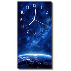 Zegar Szklany Pionowy Wszechświat Gwiazdy niebieski, kolor niebieski