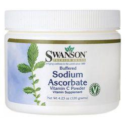 Buforowany askorbinian sodu witamina C w proszku 120gram (lek witaminy i minerały)