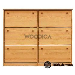 Woodica Szafka na buty iii podwójna (wąska/szeroka) 140x115x29