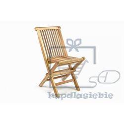 Krzesło dziecięce do ogrodu DIVERO z drzewa tekowego