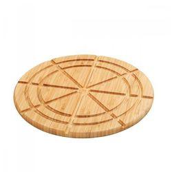 Zassenhaus Deska do serwowania i porcjowania tarty i pizzy, śred. 30 x 1,5 cm, bambus