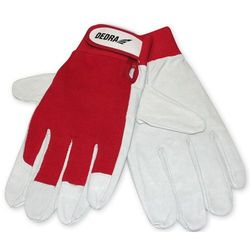 Rękawice ochronne DEDRA Biało-czerwony (rozmiar 10) (5902628219985)