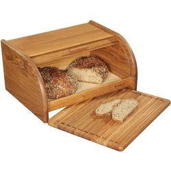 Chlebak z deską do krojenia, drewno dębowe country zassenhaus (zs-065091)
