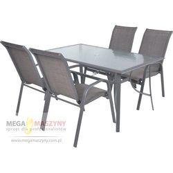 HECHT Zestaw mebli ogrodowych Sofia Stół + 4krzeseł