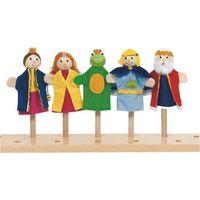Pacynki na palec zestaw dla dzieci - żabi król marki Goki