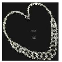 Arande Swarovski piękny naszyjnik crystal srebro ślub
