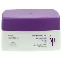 Wella SP Volumize - maska nadająca objętość włosom cienkim 200ml z kategorii Odżywianie włosów