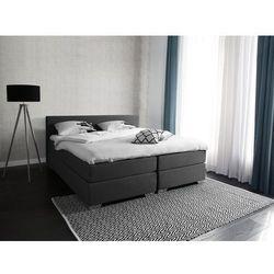 Łóżko kontynentalne 180x200 cm - tapicerowane - president szare marki Beliani