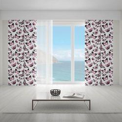 Zasłona okienna na wymiar - GRUNGE BUTTERFLIES II