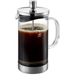 Gefu Zaparzacz tłokowy do kawy lub herbaty, eleganckie naczynie ze szkła z plastikową pokrywką