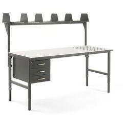 Aj produkty Stół roboczy cargo, z podajnikiem kulowym, 2000x750 mm, 3 szuflady, nadstawka