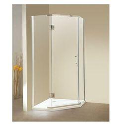 Vente-unique Narożna kabina prysznicowa z drzwiami wahadłowymi - z brodzikiem - ardia - 90 × 90 × 185 cm