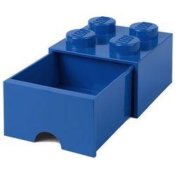 Room copenhagen Pojemnik lego 4 z szufladą niebieski - lego pojemniki