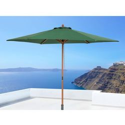 Parasol ogrodowy - zielony - drewniany - ø 270 cm - TOSCANA - produkt z kategorii- Parasole ogrodowe
