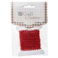 Koraliki na sznurku  cesz-006/4,5m - czerwone marki Dalprint