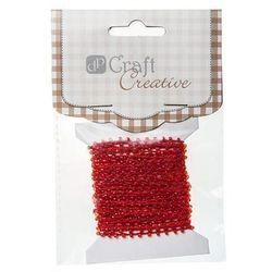 Koraliki na sznurku  cesz-006/4,5m - czerwone od producenta Dalprint