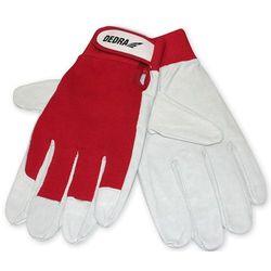 Rękawice ochronne DEDRA Biało-czerwony (rozmiar 9)