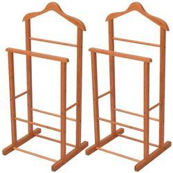 vidaXL Wieszaki na ubrania 2 bambusowe 46x40x95 cm (8718476005116)