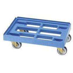 Wózek transportowy, dł. x szer. 610x410 mm, z HDPE, od 5 szt., jasnoniebieski. N