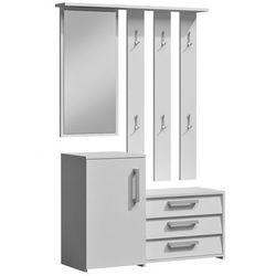 Garderoba z lustrem Senea - biała, TopEshop paris biała