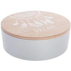 Atmosphera créateur d'intérieur Organizer na kosmetyki w stylu etno, skrzynka na kosmetyki, pudełko na biżuterię, pudełko ozdobne, kuferek na kosmetyki z lustrem