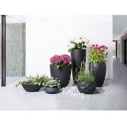 Doniczka czarna - ogrodowa - balkonowa - ozdobna - 30x30x24 cm - MAGGIORE - sprawdź w wybranym sklepie
