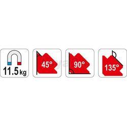 SPAWALNICZY KĄTOWNIK MAGNETYCZNY 82*120*13, towar z kategorii: Migomaty i półautomaty spawalnicze