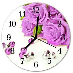 Zegar ścienny okrągły Róże