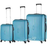 Travelite Zestaw walizek  uptown - niebieski