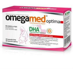 Omegamed Optima, kaps.,dla kobiet w ciazy,30 szt+30 szt - kapsułki suplementy ciążowe