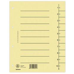 Przekładki , karton, a4, 235x300mm, 1-10, 10 kart, jasnobrązowe marki Donau