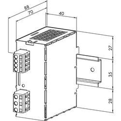 Zasilacz na szynę DIN WAGO 787-601, 12 V/DC (SELV), 2 A, 24 W (4045454435073)