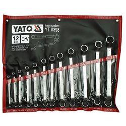 Zestaw kluczy oczkowych YATO YT-0398 6 - 32 mm odgięte (12 elementów)