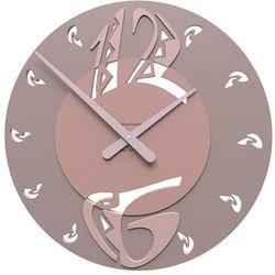 Zegar ścienny Ethnic CalleaDesign szara śliwka, kolor szary