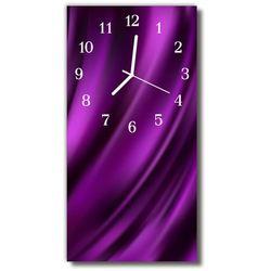 Zegar Szklany Pionowy Płótno linie purpurowy, kolor fioletowy