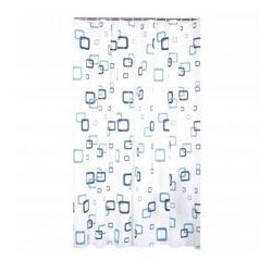 zasłonka prysznicowa 180 x 180 peva kwadraty 9930 wz 16 marki Galicja