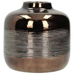 Dekoria wazon estera copper wys. 16cm, 17 × 17 × 16 cm