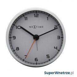 Nextime Zegar stojący 9 cm company alarm biały