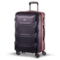 Średnia walizka SUMATRA 1111B 9 czarno-pomarańczowa