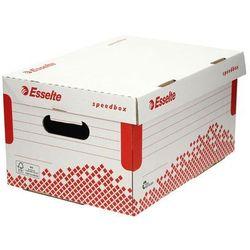 Pudło archiwizacyjne 355x193x252 biało-czerwone otwierana góra Speedbox