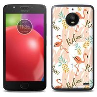 Fantastic Case - Motorola Moto E4 - etui na telefon Fantastic Case - różowe flamingi, kolor różowy